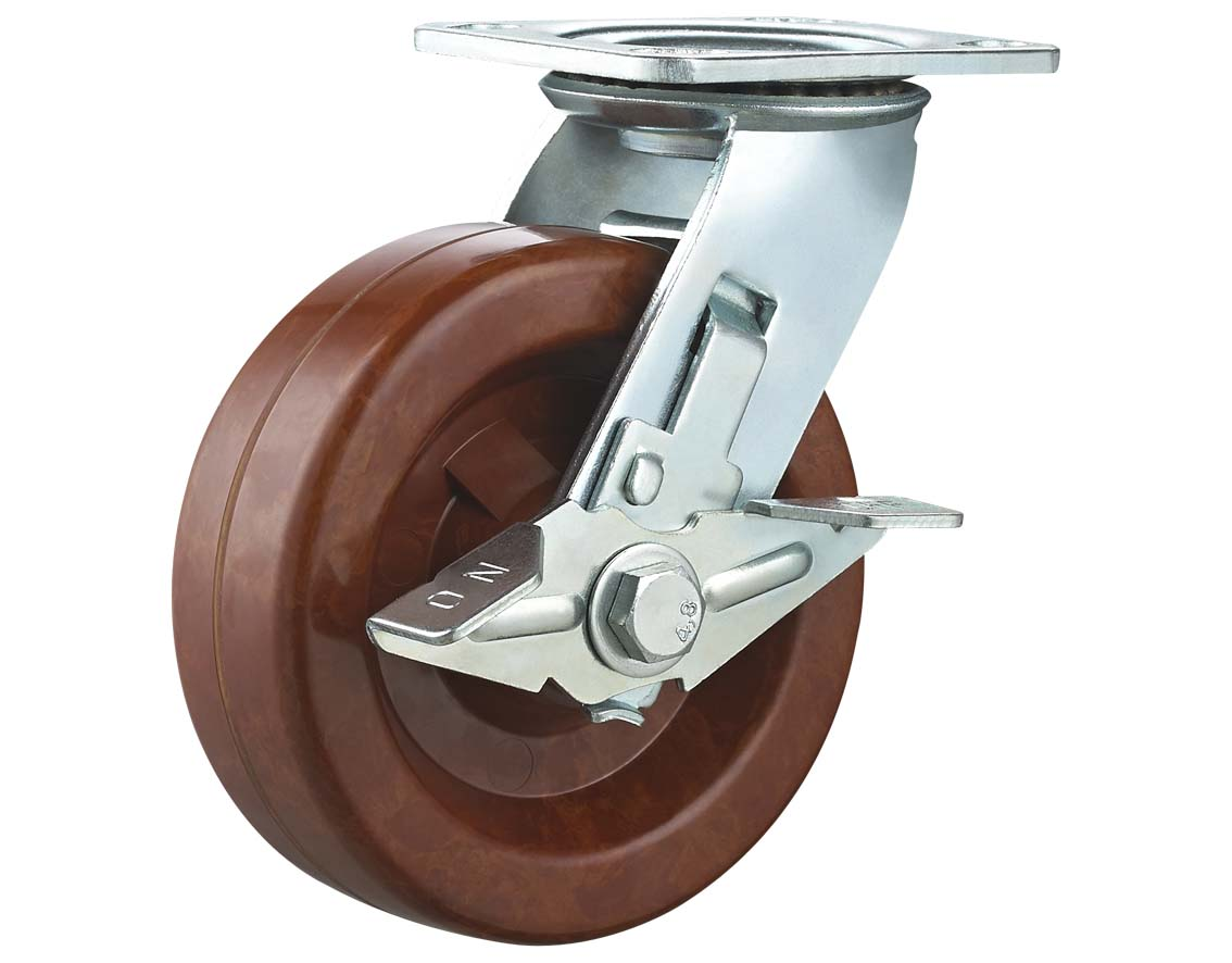 High Temperature Phenolic Wheel Swivel Plate with Side